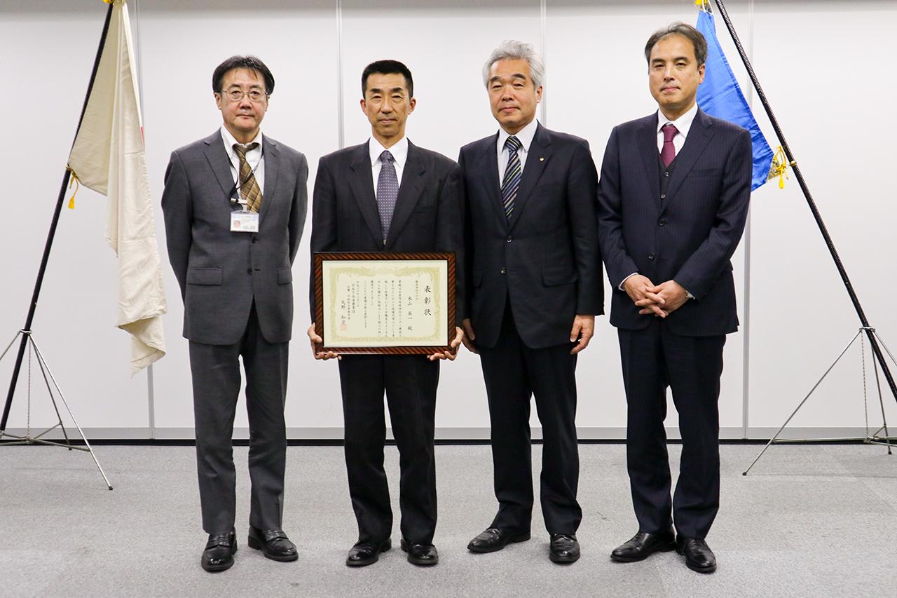 日本下水道事業団から表彰をいただきました。