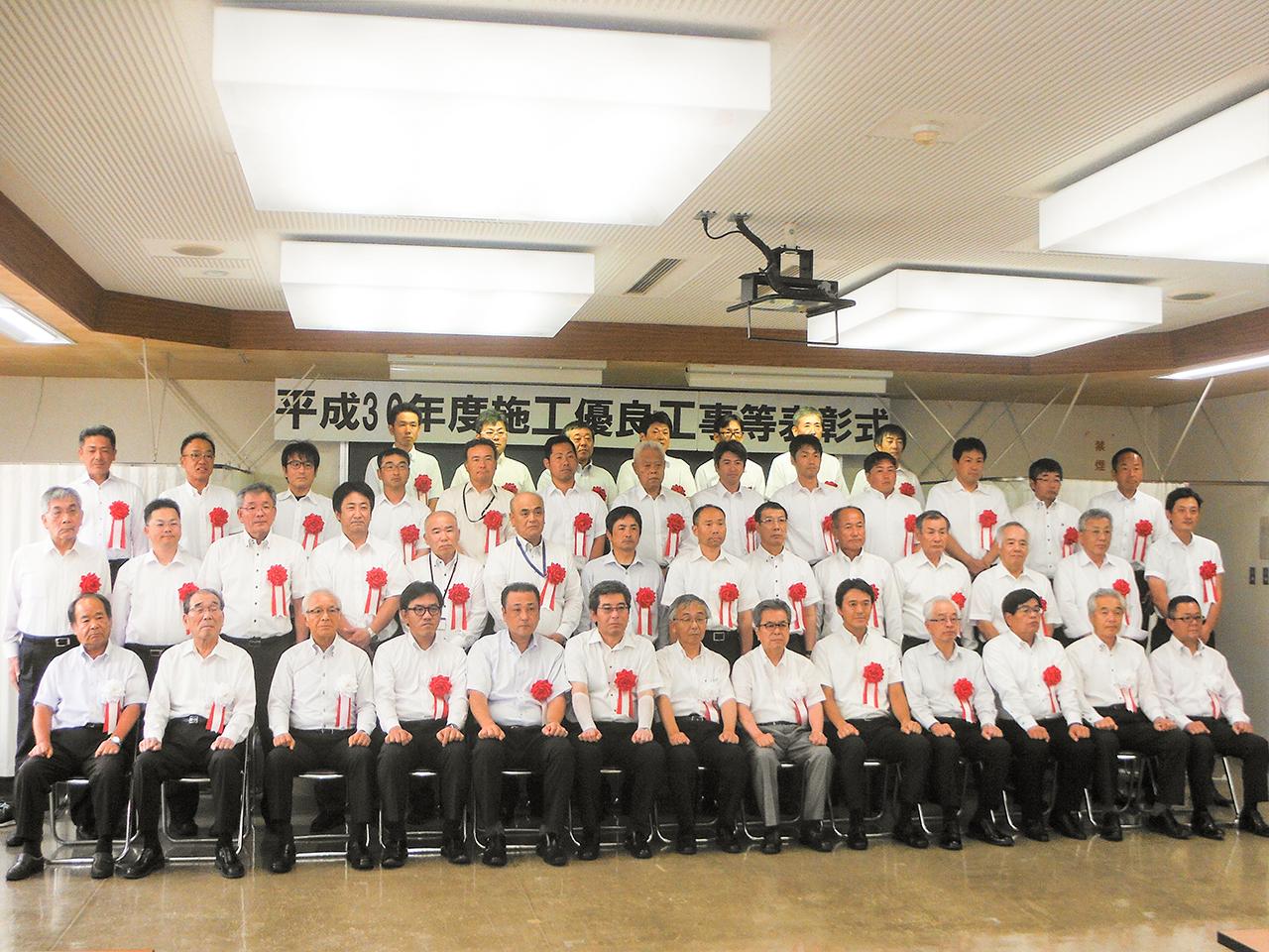 島根県出雲県土整備事務所長表彰をいただきました。